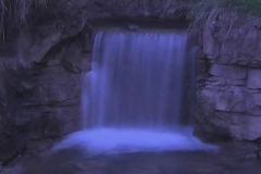Time Ghosted Garden Waterfall with Blue Tint Loop