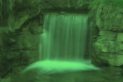 Time Ghosted Garden Waterfall with Green Tint Loop